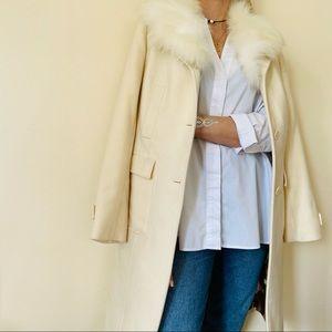 Red Valentino Garavani ecru white wool coat